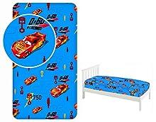 Disney Pixar Cars - Sábana bajera ajustable (90 x 200 cm, 100% algodón), diseño de Cars