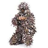 culpeo Ghillie Suit, 3D Leaf Youth Adult Lightweight Clothing Suits for Jungle Hunting,Shooting, Airsoft, Wildlife Photography or Halloween