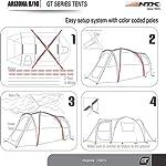 NTK Arizona Gt 9 To 10 Person 17.4 By 8 Foot Sport Camping Tent 100% Waterproof 2000Mm Tent Dark Teal