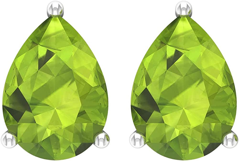 Rosec Jewels - Solitaire Earrings Teardrop Super beauty product restock quality top 5 ☆ very popular Peridot with 2.5 CT