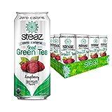 Steaz Organic Zero Calorie Iced Raspberry Green Tea, 16 fl oz. (Pack of 12)