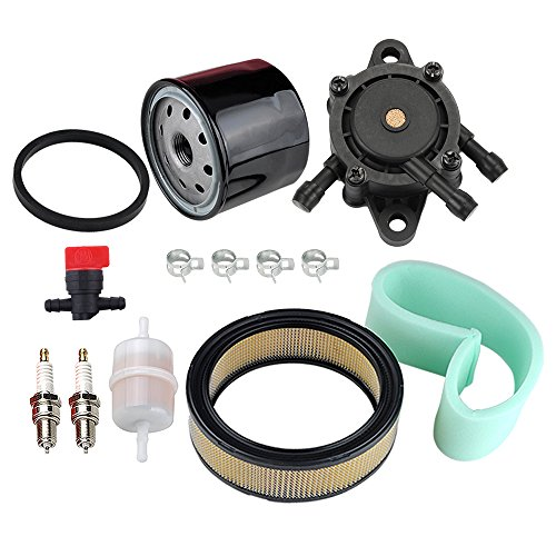 Hipa 47 883 03-S1 Air Filter 24 393 16-S Fuel Pump Oil Filter Tune Up Kit for Kohler CH18 CH20 CH22 CH23 CH25 CV17 CV18 CV19 CV20 CV22 CV22S CV23 Engine Lawn Mower