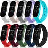 10 Pack Bands for Mi Band 4 Straps & Mi Band 3 Straps, Soft Silicone Replacement Wristbands for Xiaomi Mi Band 4 & Mi Band 3 Fitness Tracker for Women Men (10 Pack)