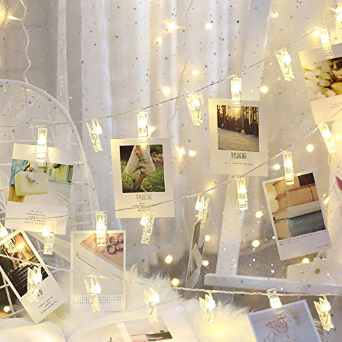 MGWA led Strip Lights Creative Photo Clip Light LED Bedroom Wedding Road Garden Decoration Light Curtain Light/String Light