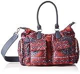 Desigual Bag Arty Atari London, Bandolera para Mujer, Rot (Granate), 25.5x15.5x32 centimeters (B x H x T)