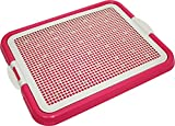 Pet Time Dog Toilet Pet Dog Puppy Cat mesh Potty Litter Training pad Holder 21' X 17' AMT-40 (Pink)