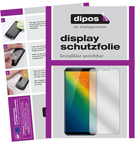 dipos I 2X Schutzfolie klar kompatibel mit Lenovo K5 Note 2018 Folie Bildschirmschutzfolie