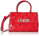 Guess Chic Girlfriend Satchel, bolso bandolera para Mujer, Rojo (Red), 13x21x31 Centimeters (W x H x L)