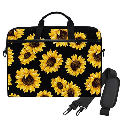 WIHVE Sunflowers Unisex Laptop Sleeve Messenger Shoulder Bag for 14-13 Inch Computer