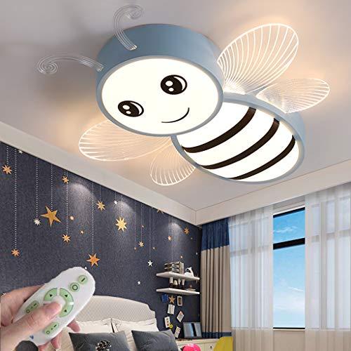 Moderna Luz De Techo LED Dibujos Animados Lámpara De Techo Regulable Control Remoto Iluminación De Dormitorio De Niñas Y Niños Lámpara Colgante De Comedor Sala De Estar Cocina Lámpara Araña (Blue)