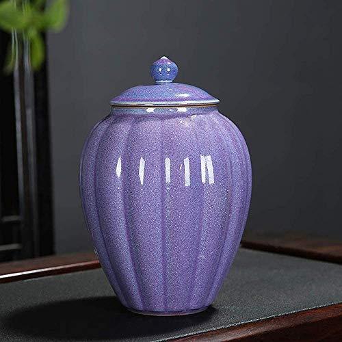 Mopoq Té caddy cerámica grande despertar té caddy pu'er té caja de embalaje tarro de almacenamiento universal almacén de té té conjunto de té de tapa con tapa de la cocina tanque de almacenamiento gey
