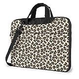 Bolso para Ordenador portátil con Estampado de Leopardo, maletín de Hombro para Negocios