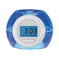 Collections Etc Ambient Color Changing Night Light Alarm Clock with Nature Sounds to Fall Asleep