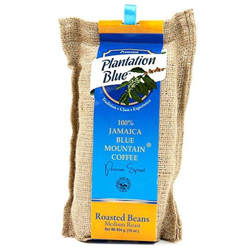 Jamaican Blue Mountain Coffee Beans – 100% Fresh Plantation Blue Mountain Coffee, Medium Roasted Whole Beans – 16 ounces (1lb)
