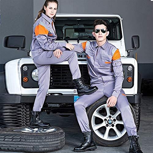 qazwsx Tute da Lavoro Abbigliamento da Lavoro Abbigliamento Uomo Donna Maniche Lunghe operai Uniforme da Lavoro Officina Auto Tuta da Lavoro Meccanica Riflettente (Color : Blue, Size : XX-Large)