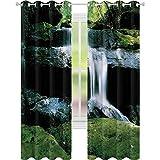Tende oscuranti per camera con cascata, fiume e giungla roccia, W52 x L72, tenda oscurante per soggiorno