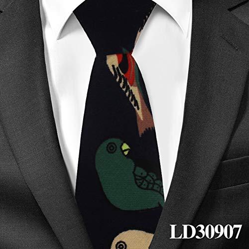 DYDONGWL Krawatten Herren,Holz Fliege,Jungen Krawatte Baumwolle Floral Krawatte für Kinder Anzüge 6cm Druck Krawatten Schlanke Mädchen Krawatte s