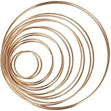 Etern 14 Piezas Aros de Metal, Macramé Oro Anillos de Aro, Bricolaje Boda Corona Decoración, para Manualidades de Atrapasueños, Pulseras, Colgantes, Tobilleras