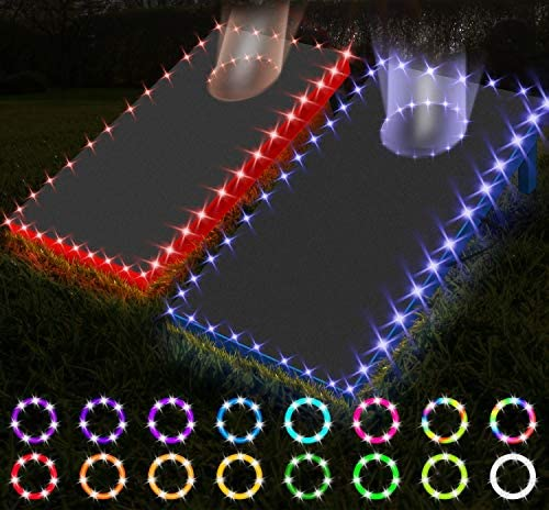 YALAMI Cornhole Lights for Hole and Board with Remote 16 Colors Changing Cornhole Board Edge product image