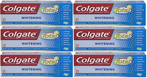 Colgate Total Whitening Gel Toothpaste - 7.8 Ounce (Pack of 6)