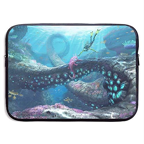 BLANKNTC Laptop Aktentaschen,Notebook Sleeve Hülle,Wasserdicht Notebooktasche,Bussiness Laptoptasche,Subnautica Tablet-Schutztasche,Laptop-Hülle,Tragetasche 13in