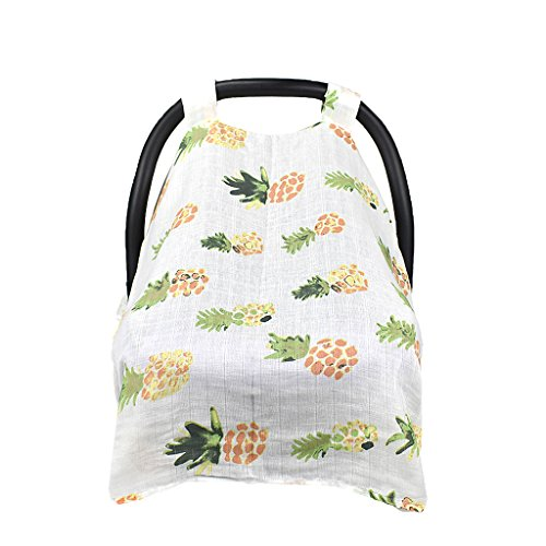 Baby Mum Breastfeeding Shawl Nursing Poncho Cover Up Udder Covers - Pineapple, 114x90cm