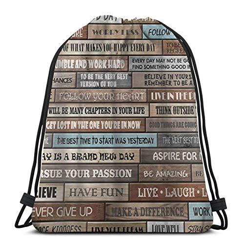 fgjfdjj Bolso de Lazo Personalizado con Ducha de Cabina rústica de impresión, Bolso de Viaje con Cuerda, Bolso de Escuela para Gimnasio de Viaje