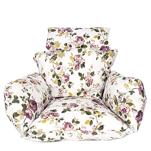 Hangende Ei Hangstoel Kussens zonder standaard, Swing Seat Kussen Dikke Nest Hangende Stoel Terug Met Kussen 50*70*105 Flower Rice