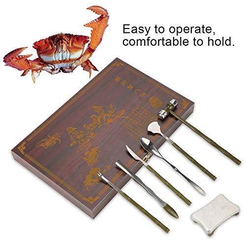 8 STÜCKE Essen Krabben Werkzeug Set, Professionelle Hummer Krabben Cracker Werkzeuge Edelstahl Meeresfrüchte Klaue Werkzeug Set