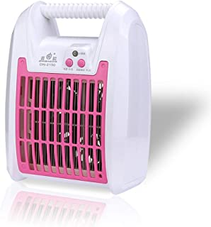Chlry Mata Mosquitos Moscas lampara electrico, con Ventilador silencioso, luz LED de bajo Consumo, Repelente eficiente, Plaga Anti Insectos Mosquito para Interiores antimosquitos Bug Zapper,Pink