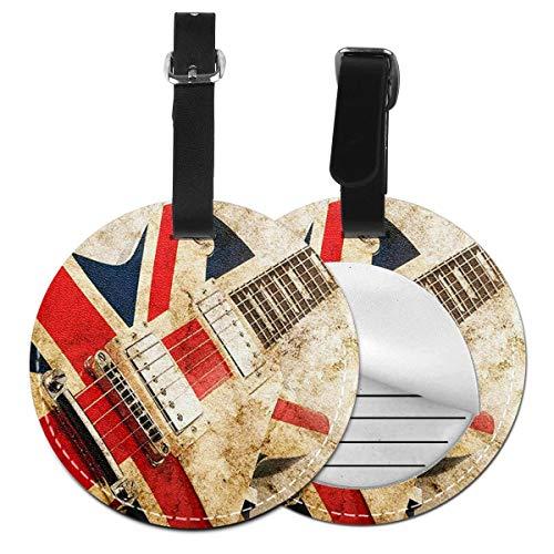 Etiquetas para Equipaje Bolso ID Tag Viaje Bolso De La Maleta Identifier Las Etiquetas Maletas Viaje Luggage ID Tag para Maletas Equipaje Guitarra Brit Rock
