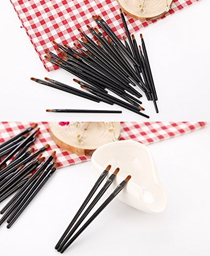 50 Pieces Lip Brushes, Pro Multifunctional Makeup Brush, Lipstick Gloss Wands Applicator Cosmetic Tool Kits, Black