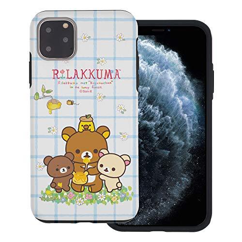 Compatible with iPhone 11 Case (6.1inch) Rilakkuma Layered Hybrid [TPU + PC] Bumper Cover - Rilakkuma Honey