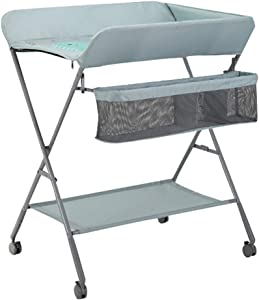 Changing Tables Xinjin Newborn Massage Table Children Portable Clothes Diaper Adjustable Storage Foldable Wheeled