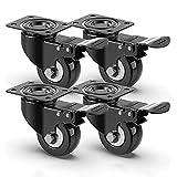 4 ruedas para muebles, ruedas para muebles pesados con capacidad de carga de 400...