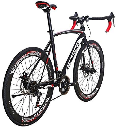 Road Bike XC550 21 Speed Gears Bicycle Dual Disc Brake Bike (54CM-Spoke)