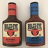 Paquete de salsa para barbacoa Bull's-Eye – 2 sabores – barbacoa original (355 g) y New York Steakhouse (360 g) (2 unidades)