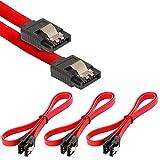 Poppstar 3x cavi dati di 0.5m flessibile Sata 3 HDD SSD, connettore dritto, fino a 6 GB/s,...