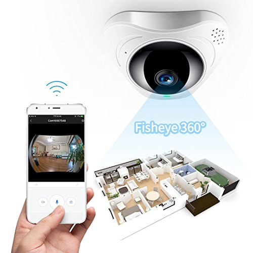 FREDI 960P HD Fisheye Telecamera di Sorveglianza Interno WIFI Wireless...
