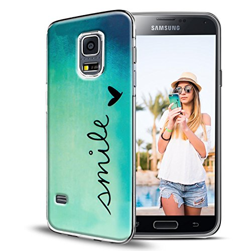 Conie PC33749 Picture Case Kompatibel mit Samsung Galaxy S4 Mini, Rückschale mit Motiven Silikon TPU Backcover für Galaxy S4 Mini Bumper Motiv Smile