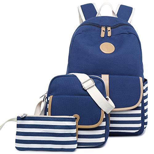 Backpack set Canvas School Bag Teens Boys/Girls Book Bag Middle School Backpack
