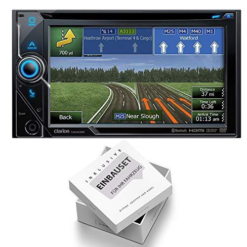 Clarion NX405E 2-DIN Navigation Media Receiver Bluetooth DVD USB HDMI geschikt voor Dodge RAM, 2002-2006, zwart