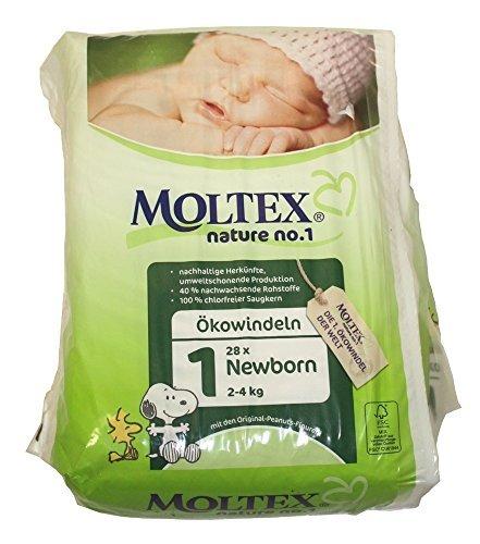 3 Packs of Moltex Nature No.1 Nappies Newborn (Size 1) by Moltex Nature No.1