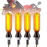 CCAUTOVIE 4pcs Intermitentes Moto LED,Intermitente Moto Homologado Ámbar LED Universales Motocicleta Luces Indicator, E-24 12V