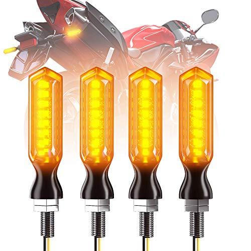 CCAUTOVIE 4 pièces Feux Clignotan Moto LED Indicateur Universel Clignotant Moto LED Ampoule Ambre Clignotant Moto Homologuée E24
