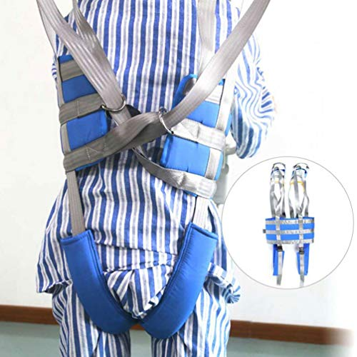 JM-D Full Body Patient Lift Slings Walking Thigh Hip Waist Lumbar Back Supports Leg Standing Harness Adjusted Heights Device, Suitable for People with Reduced Mobility