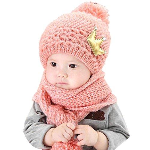 Yogogo Casquettes de Bébé, Mignonne bébé Filles Garçons Laine d'hiver Chaude  Écharpe +...