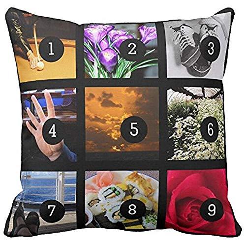 Bling Bling Machen Sie Ihre Eigene Fotocollage Mit 9 Bildern Throw Pillowcase Sofa Und Autokissen
