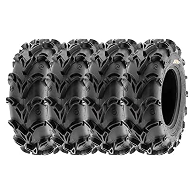 SunF Mud Race Replacement ATV UTV 6 Ply Tires 27x10-12 27x10x12 Tubeless A050, [Set of 4]