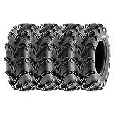 SunF 28x10-12 28x10x12 Tubeless 6 PR 28' ATV UTV Tires A050 [Set of 4]